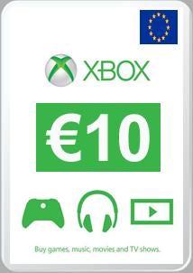 Carte Xbox 10 Euros.Acheter Carte Cadeau 10 Europe Xbox Vidaplayer Com